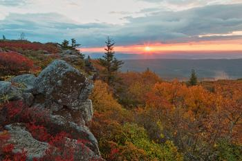 Autumn Dolly Sods Sunrise - HDR