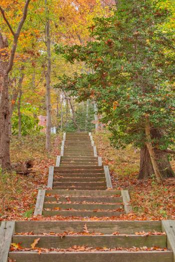 Autumn Leesylvania Stairway - HDR