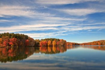 Autumn Liberty Reservoir - HDR