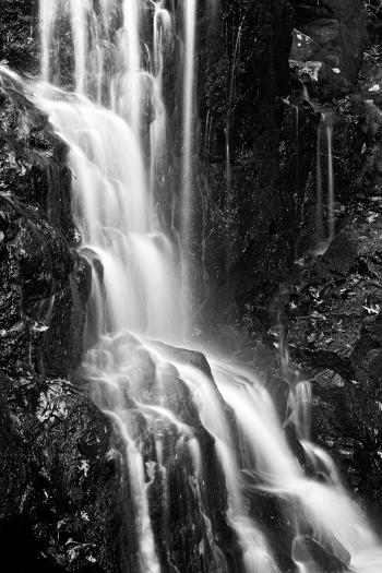 Avalon Falls - Black & White HDR
