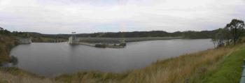 Awoonga Dam at full capacity 17 Dec 2010