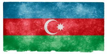 Azerbaijan Grunge Flag