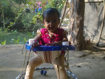 Baby on walker