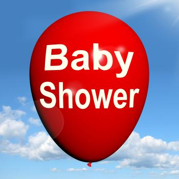 Baby Shower Balloon Shows Cheerful Festivities and Parties