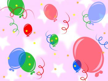 Background Balloons Shows Fun Bunch And Celebration