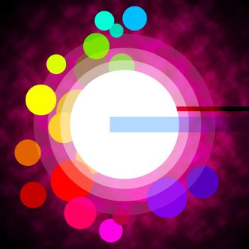Background Circles Represents Light Burst And Backgrounds