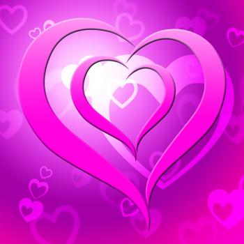 Background Heart Represents Valentine Day And Affection