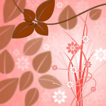 Background Leaves Represents Leafy Foliage And Petals