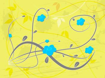 Background Yellow Indicates Florist Flowers And Template