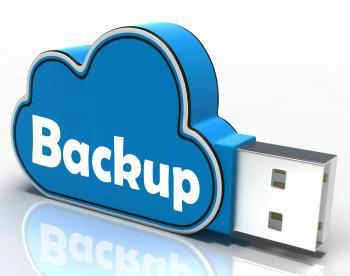 Backup Cloud Pen drive Means Data Storage Or Safe Copy
