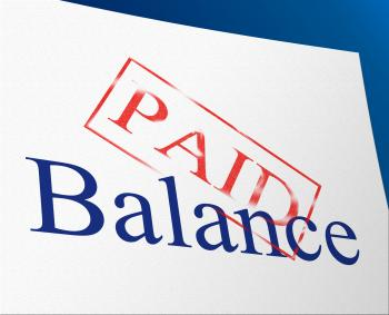 Balance Paid Indicates Confirmation Bills And Equality