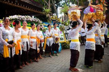Bali ceremony in temple