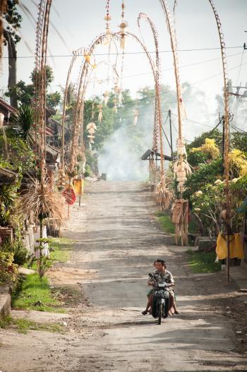 Balinese village street