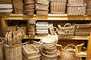Bamboo rotan baskets