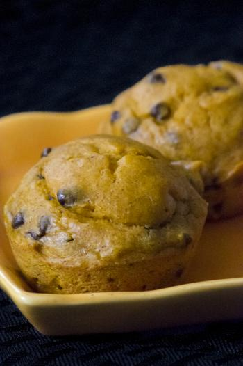 Banana Pumpkin Chocolate Chip Muffins