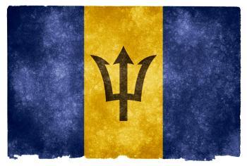 Barbados Grunge Flag