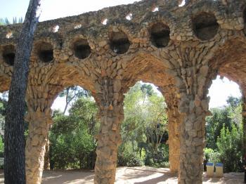 Barcelona Guell park bridge