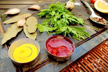 Basic ingredients for mediterranean diet