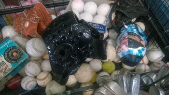 Basket of Sports Equipment