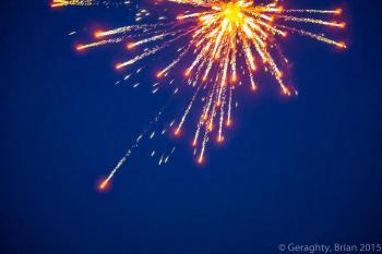 Beach Fireworks Explosion