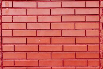 Beautiful bright red brick wall
