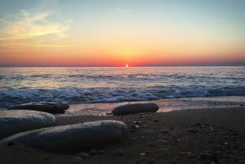 Beautiful Sunrise over the Adriatic Sea , Sirolo, #Italy