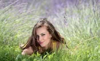 Beautiful Woman on Grass