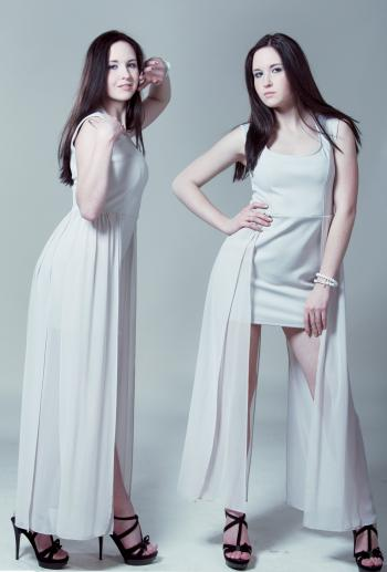 Beauty in White Dress