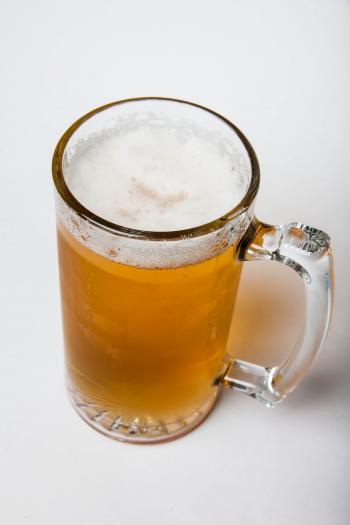 Beer mug isolated on white