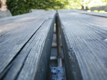 Bench closeup