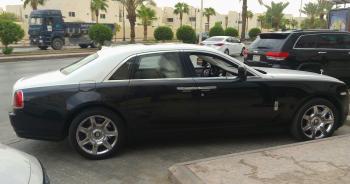 Bentley in the Parking Area
