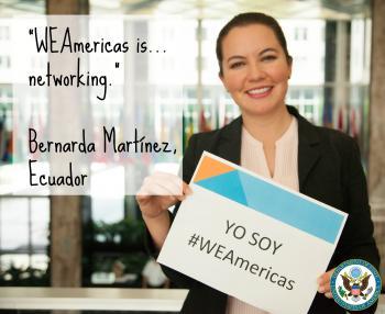 Bernarda, WEAmericas participant from Ecuador