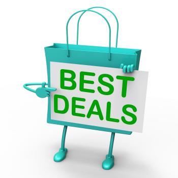 Best Deals Bag Represents Bargains and Discounts
