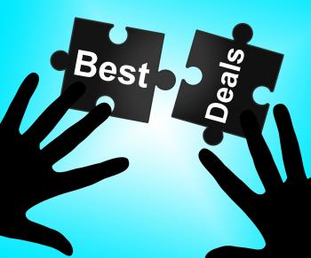 Best Deals Indicates Promotional Promotion And Closeout