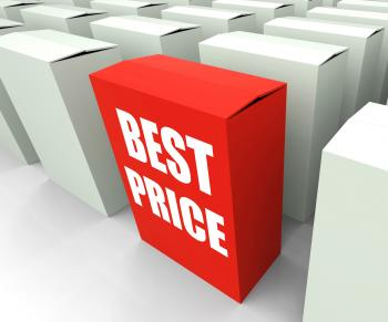 Best Price Box Represents Bargains and Discounts