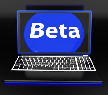 Beta On Laptop Shows Online Demo Software Or Development