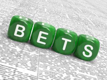 Bets Dice Show Gambling Chance Or Sweep Stake
