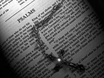 Bible book of Psalms Black and White
