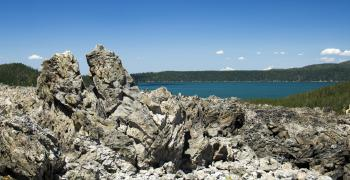 Big Obsidian Flow and Paulina Lake, Oregon