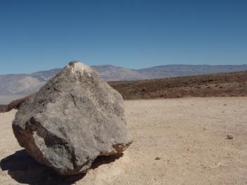 Big rock in the desert