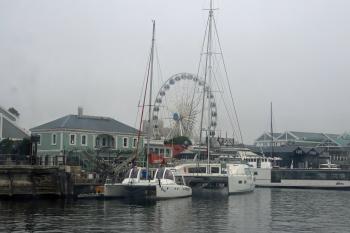 Big wheel in the harbour