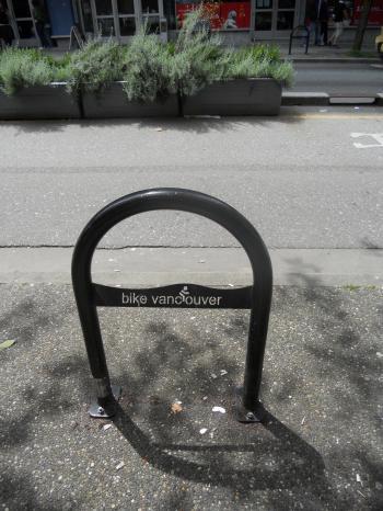 Bike lane -- Downtown Vancouver