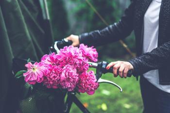 Bike with flower basket