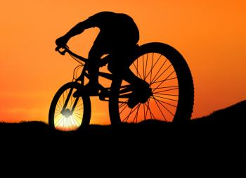 Biking into the Sunset