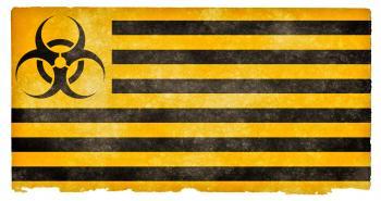 Biohazard Grunge Flag