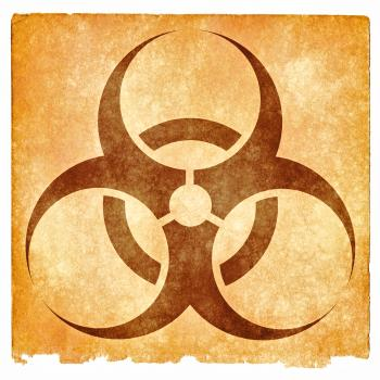 Biohazard Grunge Sign