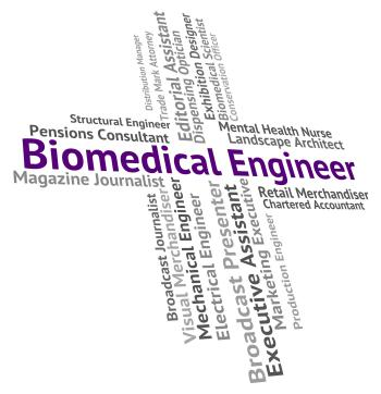 Biomedical Engineer Indicates Biomedicine Work And Words
