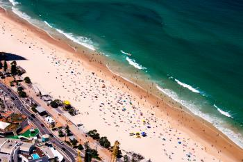 Bird's Eye View of Beach During Summer
