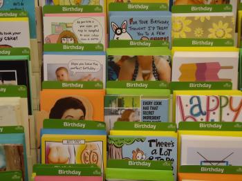 Birthday cards rack