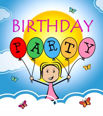 Birthday Party Shows Happiness Congratulations And Greetings